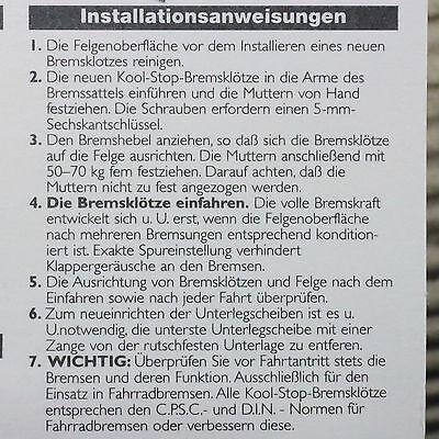 Kool Stop Eagle 2 Bremsschuh - silber - für Alu Felge