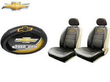 5 Pc Chevrolet Chevy Elite Seat Covers & Steering Wheel Cover Synthetic Leather