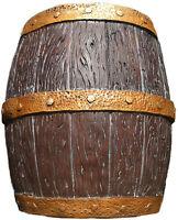 18 Whiskey Barrel Sculpture Brown Gold Figure Large Beer Pirate Keg Shelf Table