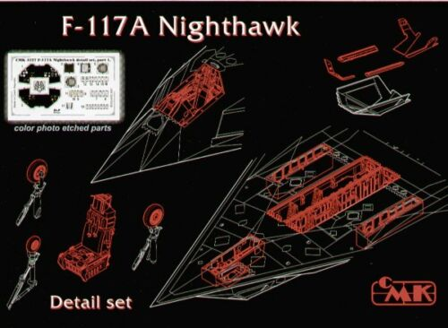 CMK 1//48 F-117A Nighthawk Detail Set for Tamiya kit # 4127