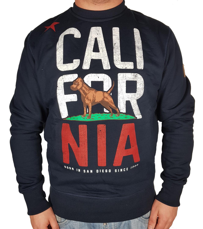 Pit Bull West Coast Sweatshirt California Flag blau navy Pitbull Westcoast PG