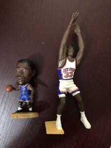 PATRICK EWING NBA Knicks Headliners Mini and Starting Lineup, Loose Lot of 2