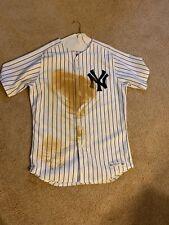 Brett Gardner Game Worn Game Used Signed Yankees Home Jersey - MLB Steiner holo
