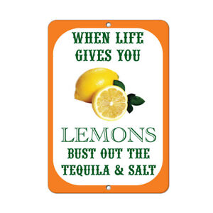 When Life Gives You Lemons Bust Out The Tequila And Salt Funny Quote