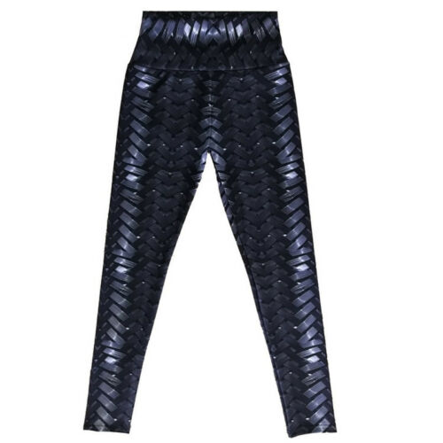 Women 3D Woven Print Yoga Long Trousers High Waist Fitness Gym Sports Leggings
