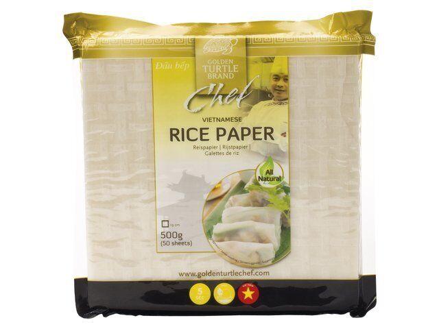Reispapier Frühlingsrollen eckig 50 Blatt 500g orientalische Speisen rice paper