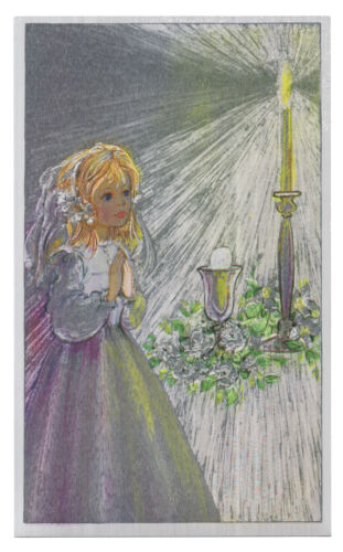 """Dufex Foil Picture Print Girl Praying by Candle size 3 1//2 x 5 3//4/"""" 3 Pack"""