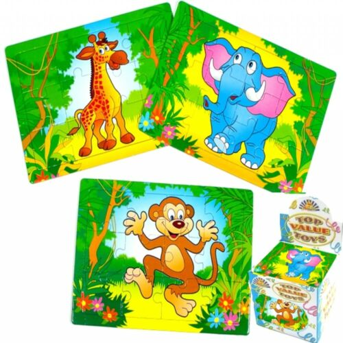 Childrens Boys Jungle Themed Mini Jigsaw Puzzle Games Party Bag Filler Toy