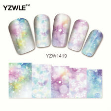 YZW-1419 FULL NAIL ART STICKERS DIY WATER TRANSFER WRAP MANICURE DECAL BUTTERFLY