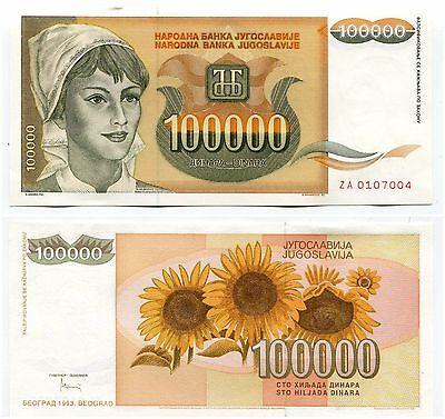 RARE Yugoslavia P113 ZA 1992 500 Dinaras Replacement Note Money Currency