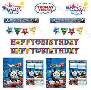 Thomas-Tank-Engine-amp-Amigos-Cumpleanos-Fiesta-Decoracion-Pancartas-Invitaciones