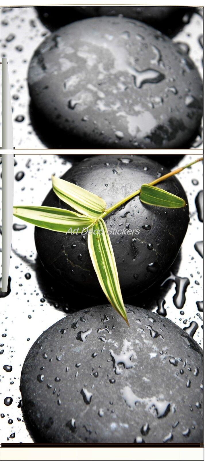 Adesivo Frigo Elettrodomestici Decocrazione Cucina Sassi Foglia 70x170cm Ref 568