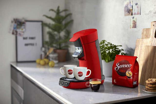 Philips Senseo Viva Cafe Red Coffee Machine Cups Hd656388