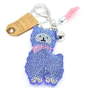 Pave-Crystal-Accent-3D-Stuffed-Pillow-Lamb-Llama-Alpaca-Keychain-Key-Chain