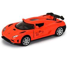 Orange 1:32 Scale Koenigsegg Agera Sports Car Diecast model Sound Light 4-Doors