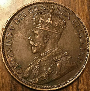 1918-CANADA-LARGE-CENT-PENNY-LARGE-1-CENT-COIN-Excellent-example