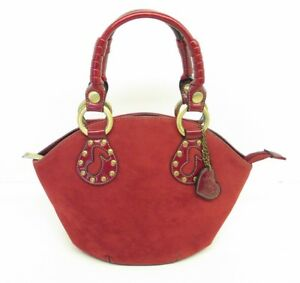 Image Is Loading Rina Rich Handbags Red Slightly Burgundy Color Satchel