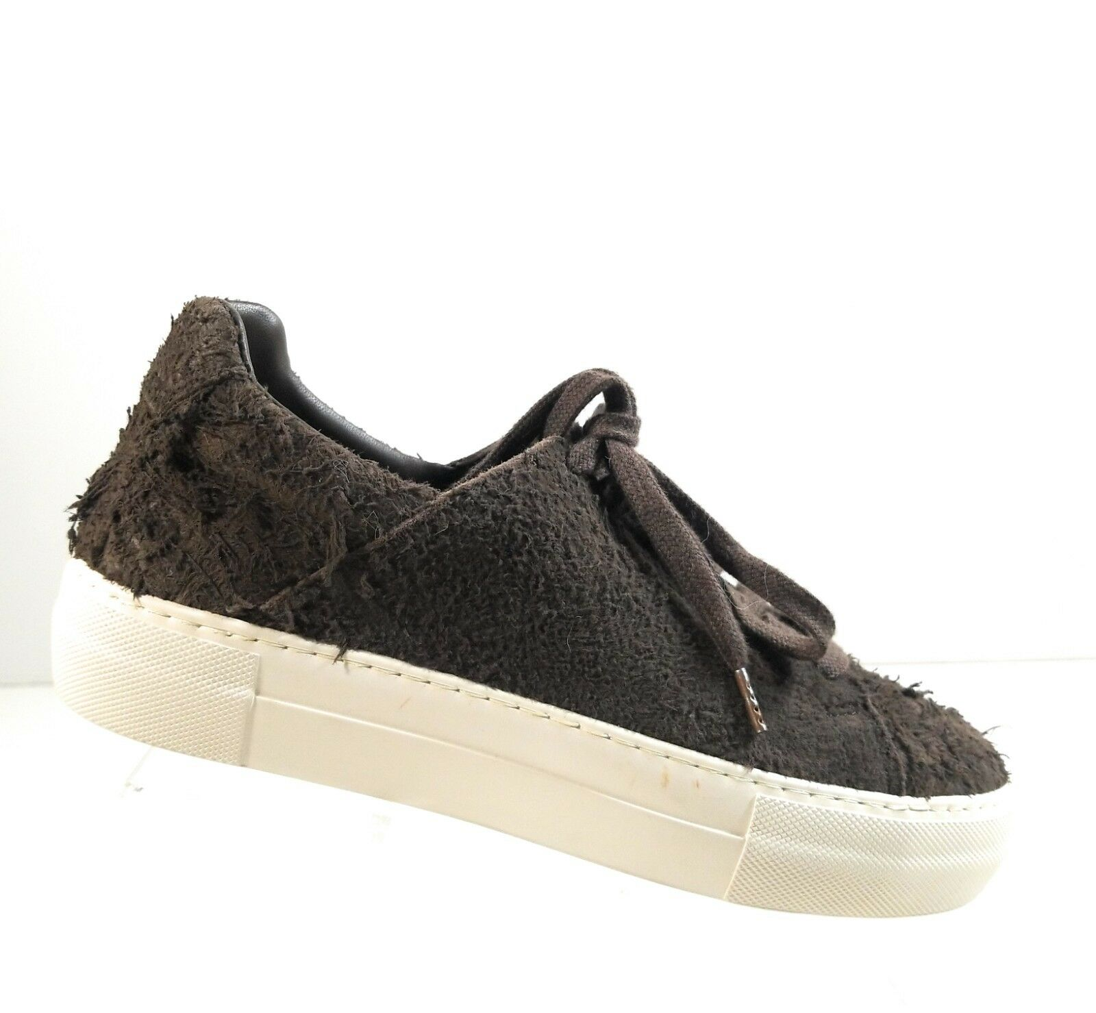 Helmut Lang  Women Fashion Lace Up Low Top Shearling Sneakers Size 38.5