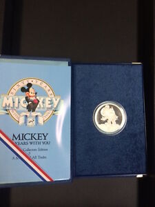 1988-Mickey-1oz-Silver-Proof-Coin-5-A-Mouse-Of-All-Trades-with-Box-and-COA