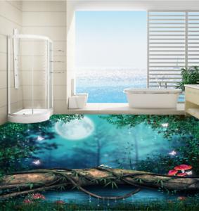 3D Moonlight Forest 45 Floor WallPaper Murals Wall Print Decal AJ WALLPAPER US