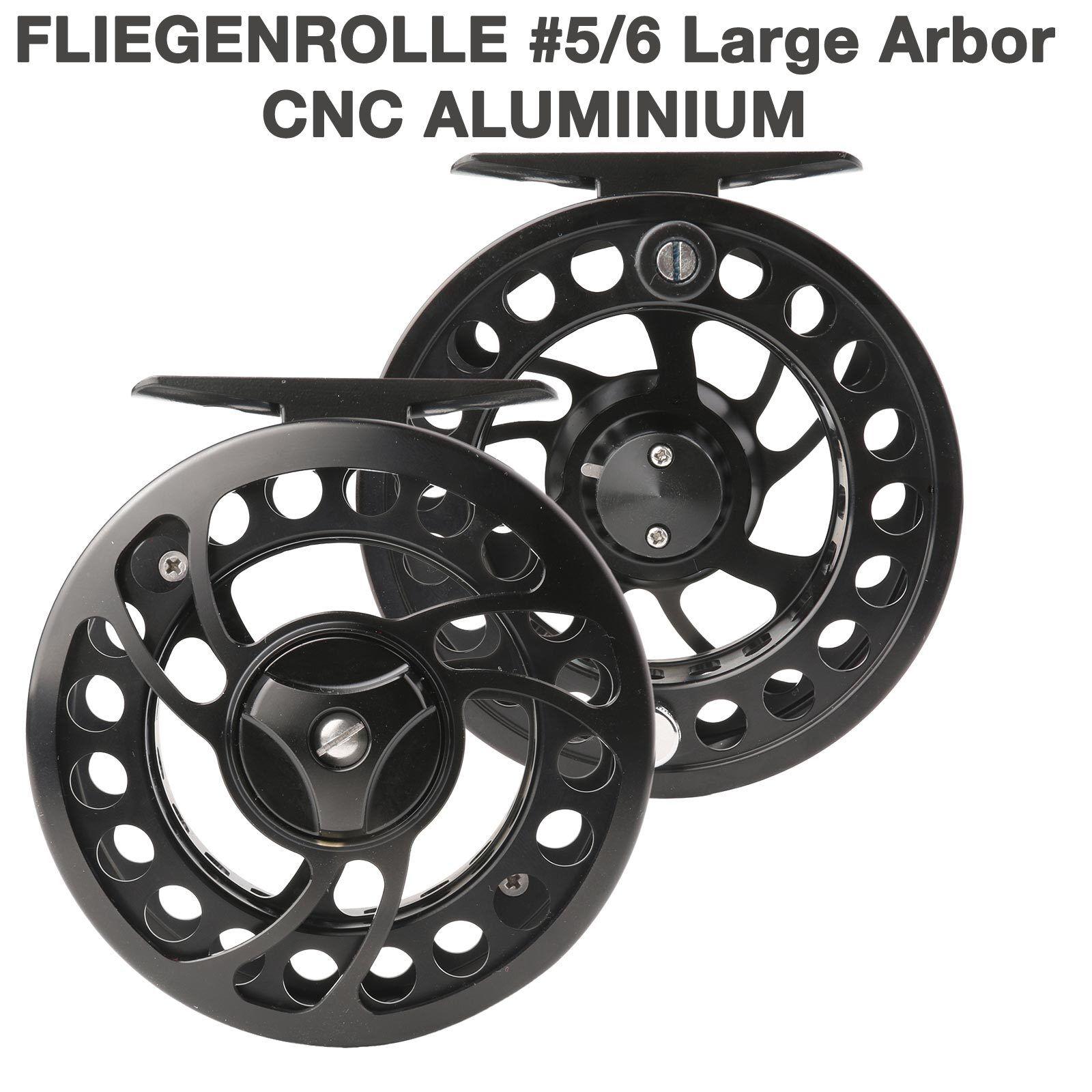 Fliegenrolle ML 5/6 Fly Reel Fliegenfischen Angelrolle Aluminium CNC Large Arbor
