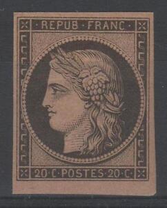FRANCE-YVERT-3f-SCOTT-3d-034-CERES-20c-BLACK-ON-YELLOW-1862-034-MNH-VVF-SIGNED-N878