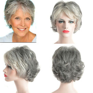 Details about Ombre Silver Gray Wigs Synthetic