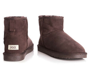 Image is loading OZWEAR-Connection-Unisex-Classic-Mini-Ugg-Boot-Chocolate
