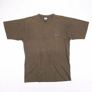 Vintage-NIKE-Green-Embroidered-Swoosh-Logo-Sports-T-Shirt-Size-Men-039-s-Large