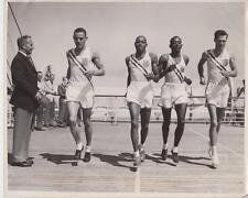 U.S Olympic Track Stars Train on Deck of Liner 7/21 -Press Photo