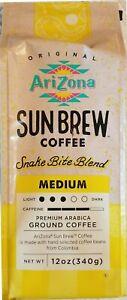 NEW!  Arizona Sun Brew Coffee SNAKE BITE BLEND Ground Medium 12 oz. 1 Bag