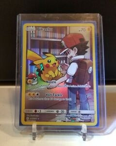Secret Rare Ash Art Pikachu 241//236 M//NM Pokemon Cosmic Eclipse Card # 241
