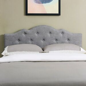 Image Is Loading Tufted Headboard E C King Size Upholstered Bedroom Furniture