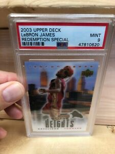 2003-04-Upper-Deck-Lebron-James-Upper-Deck-City-Heights-RC-SP-PSA-9-MINT
