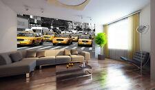 YELLOW CABS TAXIS MANHATTAN NEW YORK CITY Photo Wallpaper Wall Mural 335x236cm