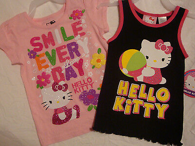 TODDLER GIRLS HELLO KITTY T-SHIRT Size 2T NWT