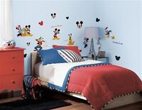 Mickey And Friends Peel And Stick Wall Stickers Appliques Decals Sealed