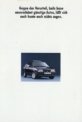 Diskret Lada Prospekt 1990 6/90 Autoprospekt Brochure Prospectus Samara Nova Niva Esite Kunden Zuerst