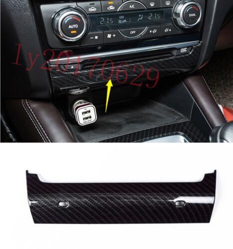 Carbon Fiber CD Control Panel Button Cover Trim For Mazda 6 ATENZA M6 2017 2018