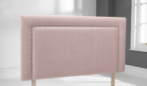 on sale e41d1 7a139 Details about 4ft Small Double Chatburn Blush Pink Velvet 28