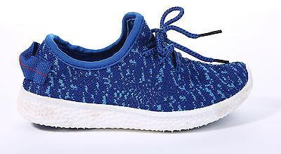 Niños Chicos Chicas Deportes Entrenadores Transpirable Con Cordones Childrens absorber Zapatos Talla