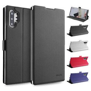 Flip-Case-Samsung-Note-10-Plus-Magnet-Cover-Aufstellbar-Staender-Schutzhuelle-Etui