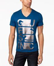 ddfed91da7f2 item 5 $99 GUESS Men's BLUE GRAY LOGO GRAPHIC SHORT-SLEEVE V-NECK COTTON TEE  T-SHIRT S -$99 GUESS Men's BLUE GRAY LOGO GRAPHIC SHORT-SLEEVE V-NECK  COTTON ...