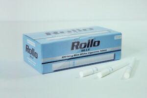 600 BLUE LIGHTS EMPTY ROLLO TUBE Cigarette Tobacco Rolling Roller Filter Ventti