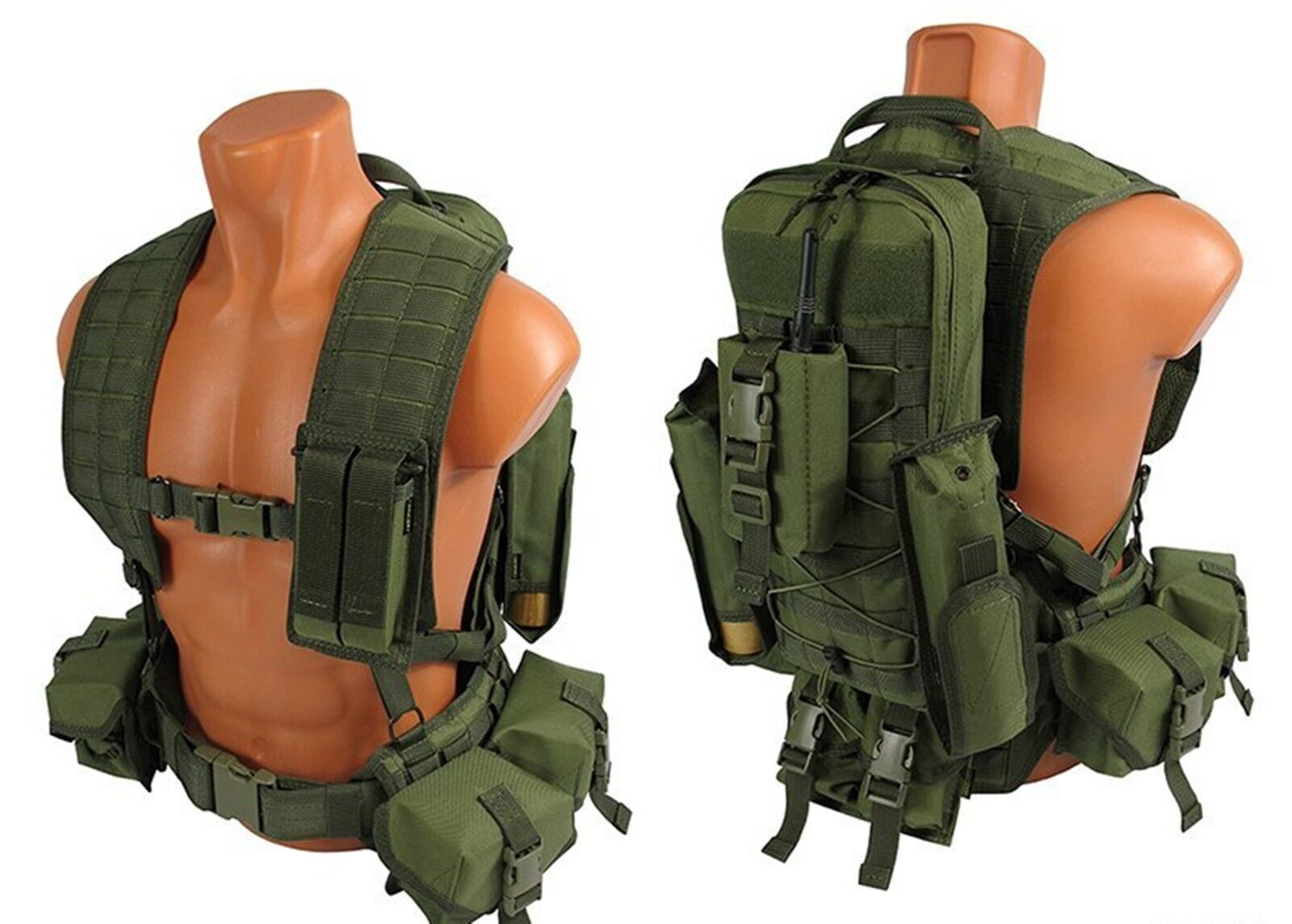 Green od molle  paintball Modular vest airsoft chest rig olive kit №33 sniper svd  a lot of concessions