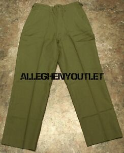 Trousers Field Wool Serge M-1951 #Mil-T-1870 A 16 June 1952 Tap-1770 Pants size 36-39 Vintage 19 may 1953 Army Military Korean