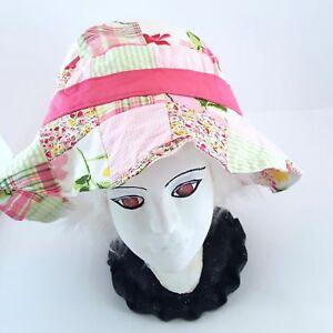 5493af141 Details about Janie & Jack Summer Classics Bucket Hat Sun Bonnet Girls Pink  Patchwork Plaid 2T