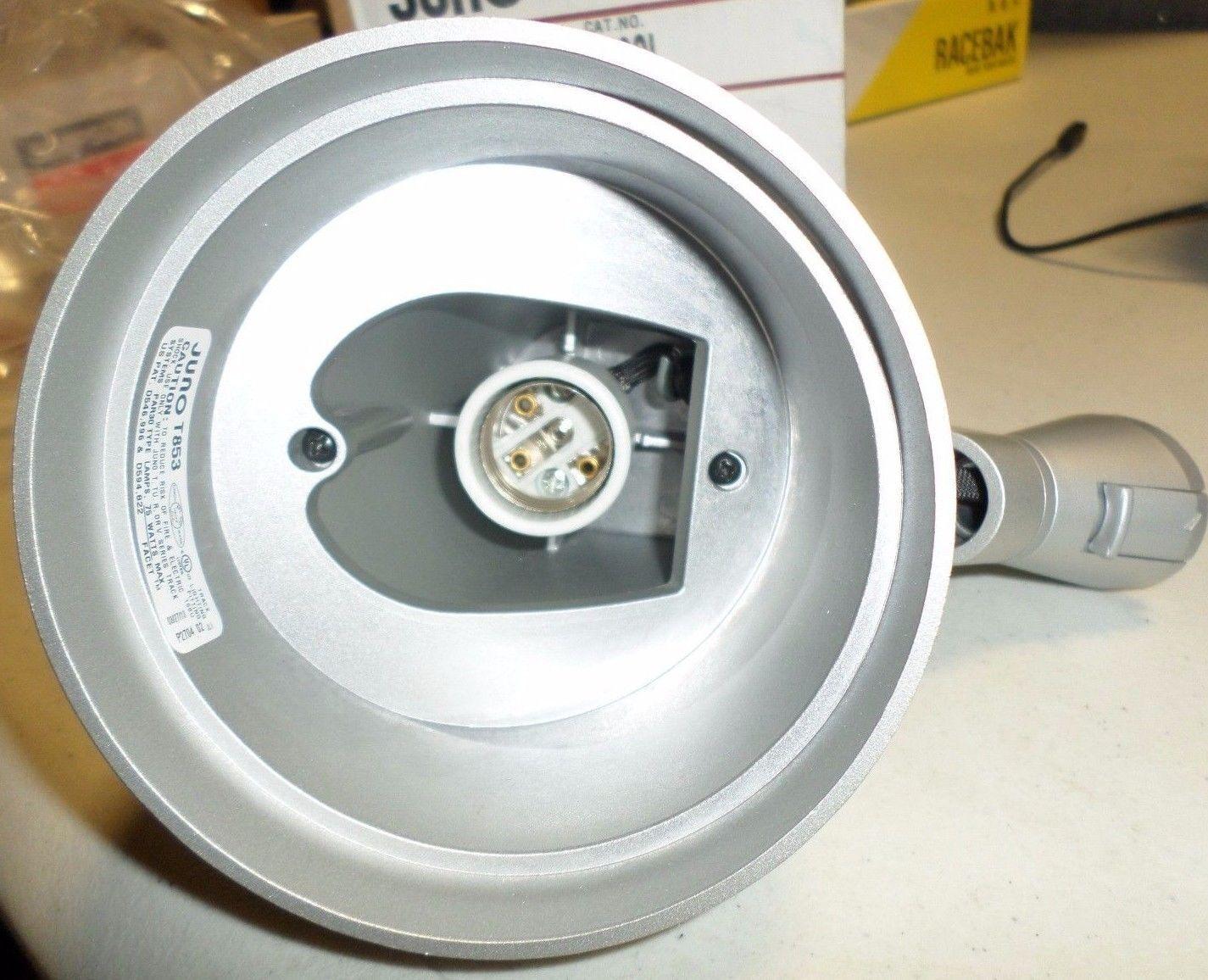 Juno Lighting T853SL Trac-Master faceta voltaje de línea 75W PAR30 portalámpara Plata