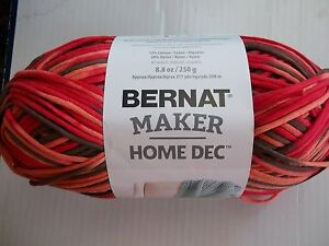Bernat Maker Home Dec Cotton Blend Yarn Spice Varg 1