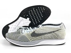 9cd8a352eade Nike Flyknit Racer Pure Platinum Cool Grey White Black 862713-002 ...
